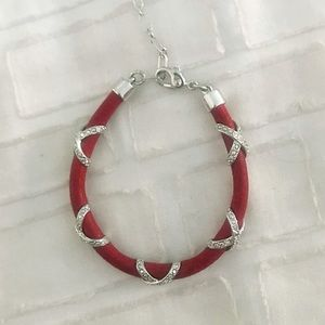 Swarovski Crystal Signature Bracelet (Red)